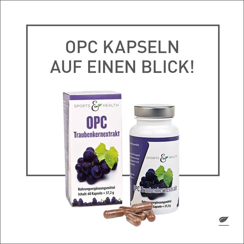 Reines OPC kommt als natürlicher Schutzstoff in Pflanzen vor