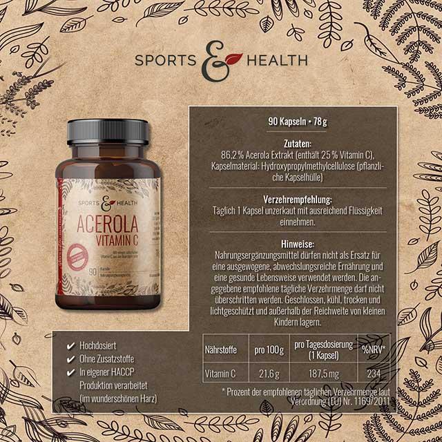 Acerola Vitamin C Kapseln
