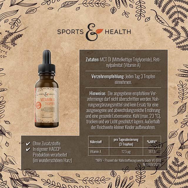 Vitamin A Tropfen Inhalt