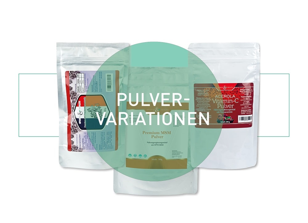 Pulvervarianten
