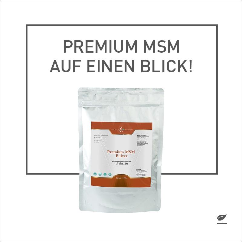 Foto über das Nahrun gsergänzungsmittel MSM - Methysulfonylmethan Pulver