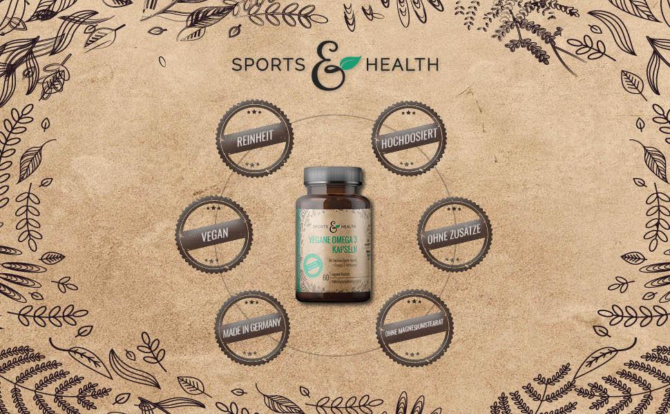 Vegane Omega 3 Algenöl Kapseln