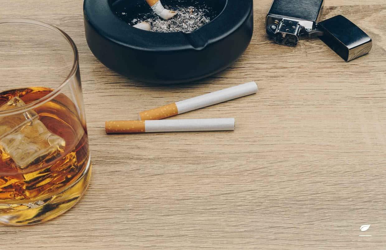 Krebsrisiko durch Alkohol und Rauchen