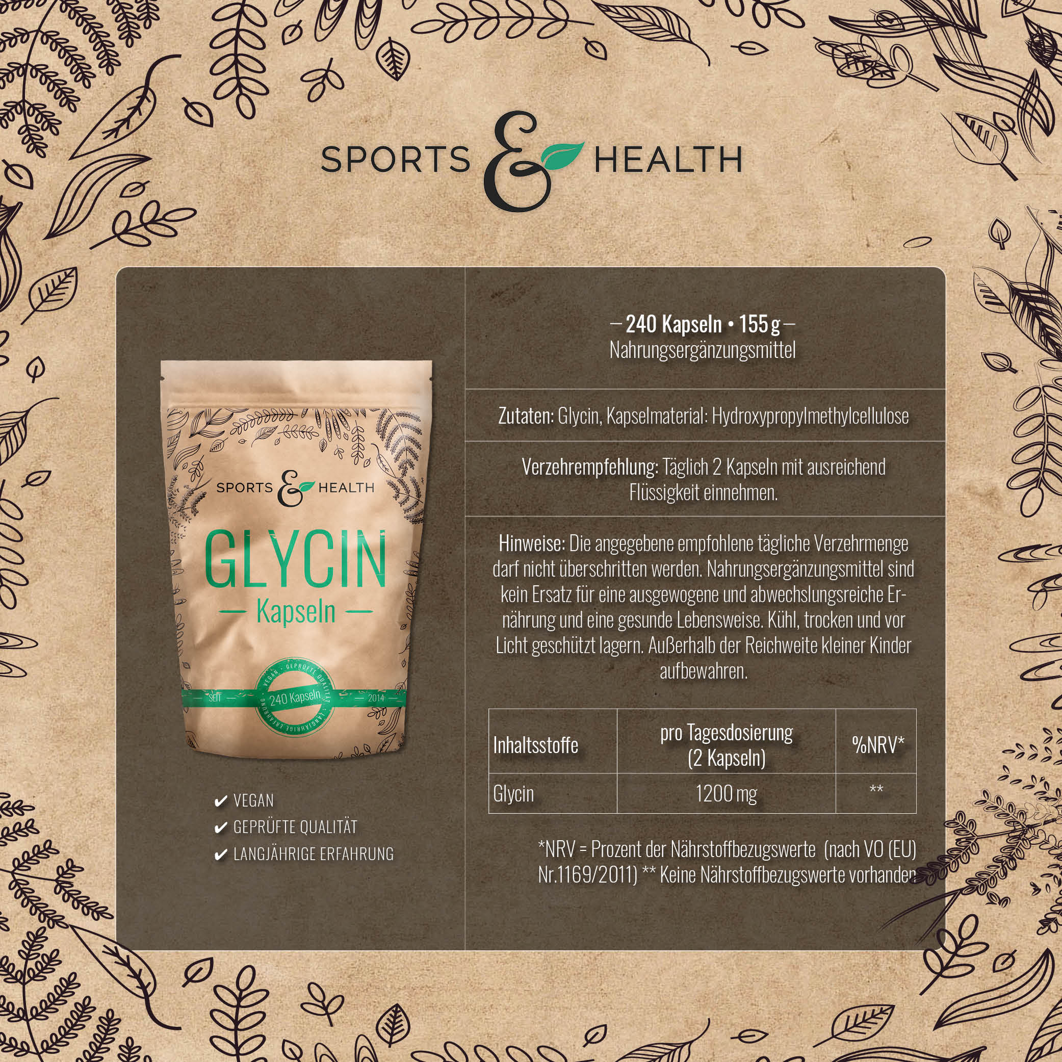 Glycin Kapseln Inhalt