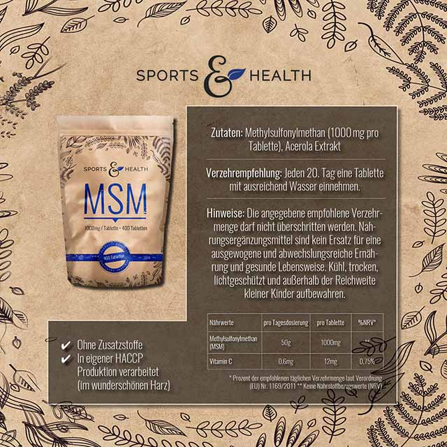 MSM Tabletten Etiketten